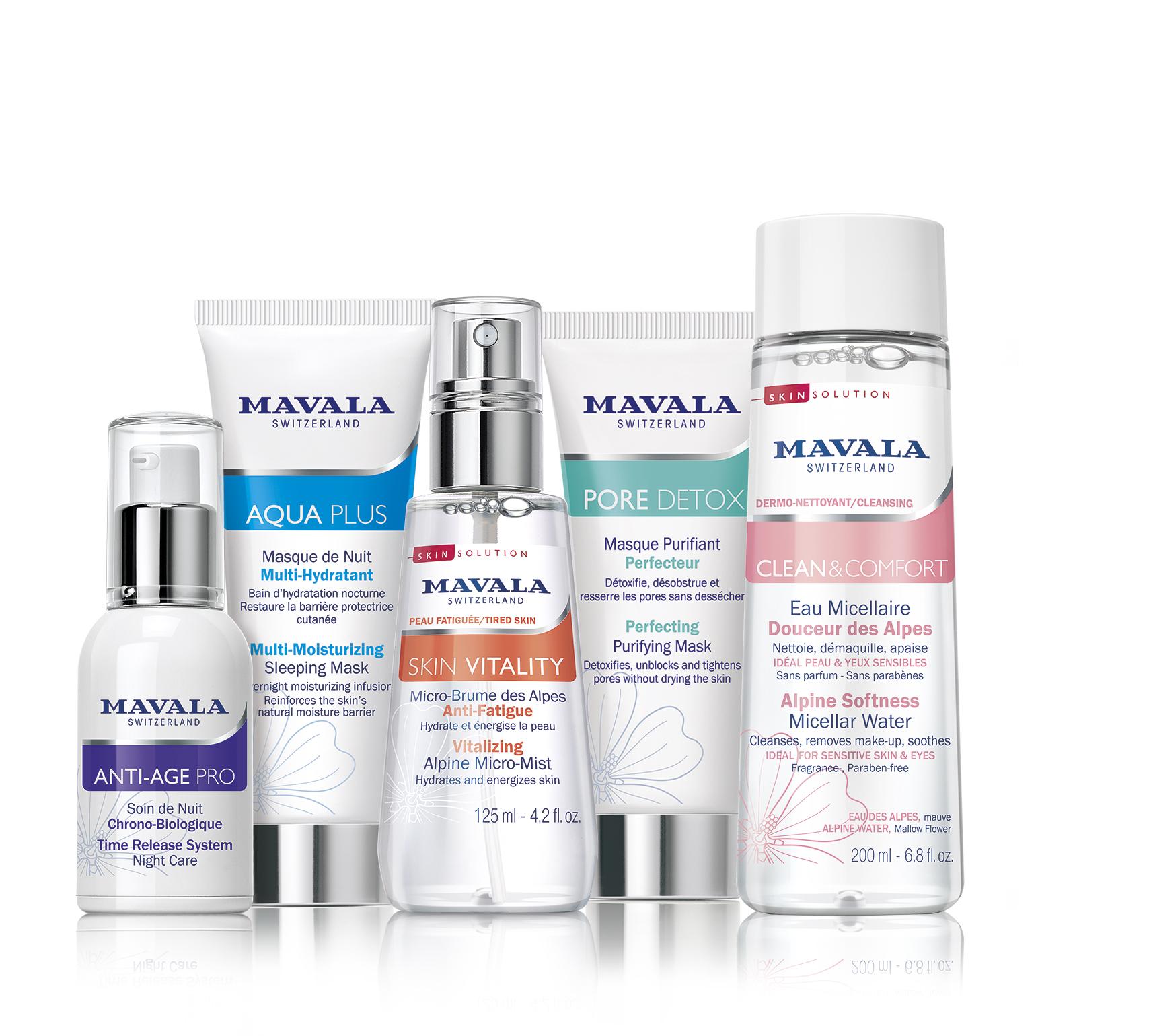 Mavala swiss skin solution gamme